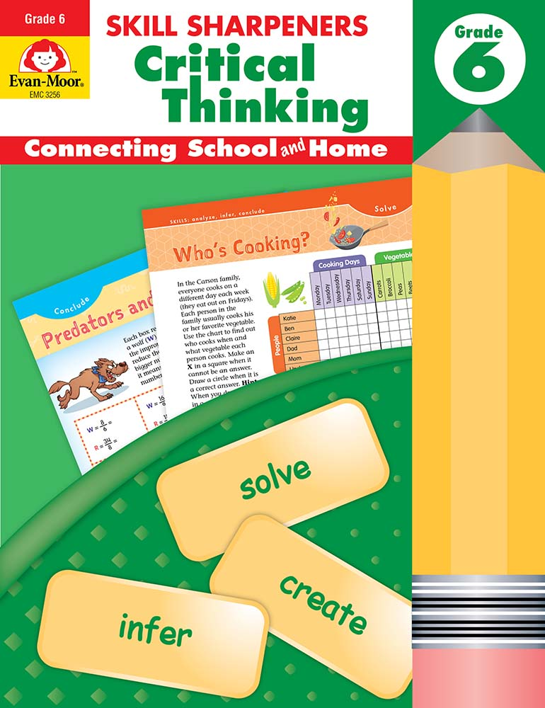Picture of Skill Sharpeners: Critical Thinking, Grade 6 - Activity Book