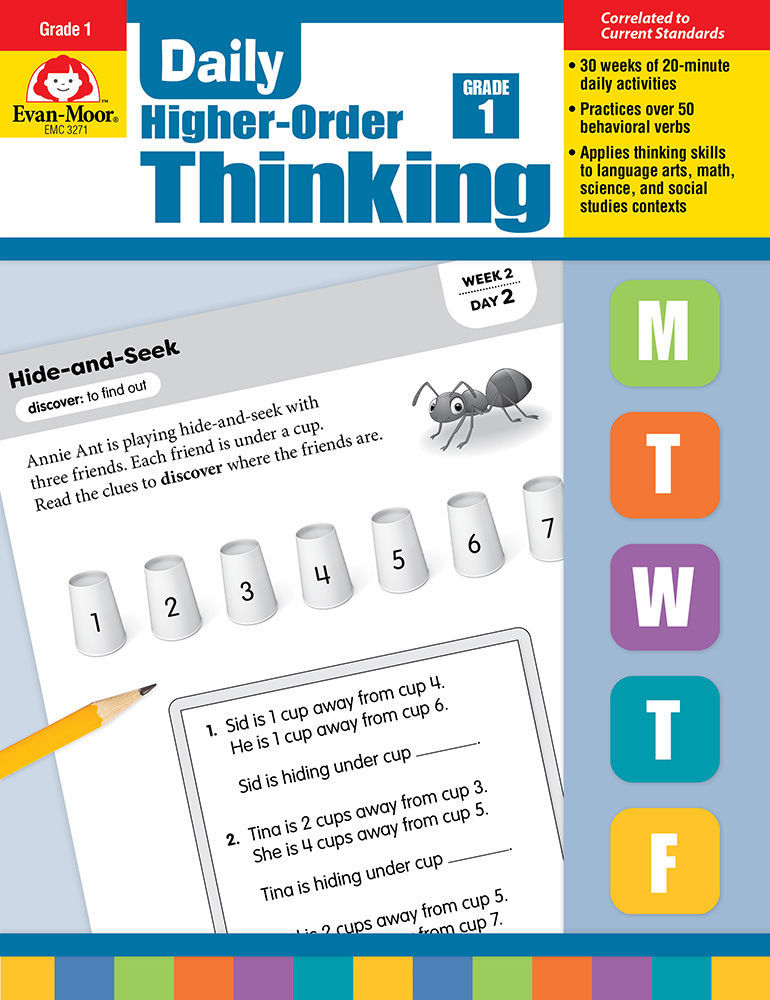 Picture of Daily Higher-Order Thinking, Grade 1 - Teacher's Edition, Print