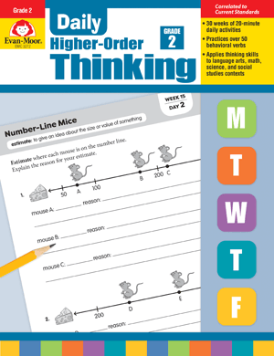 Picture of Daily Higher-Order Thinking, Grade 2 - Teacher's Edition, E-book