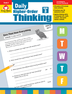 Picture of Daily Higher-Order Thinking, Grade 3 - Teacher's Edition, E-book