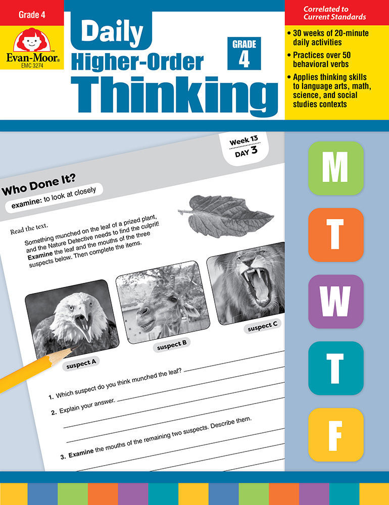 Picture of Daily Higher-Order Thinking, Grade 4 - Teacher's Edition, Print