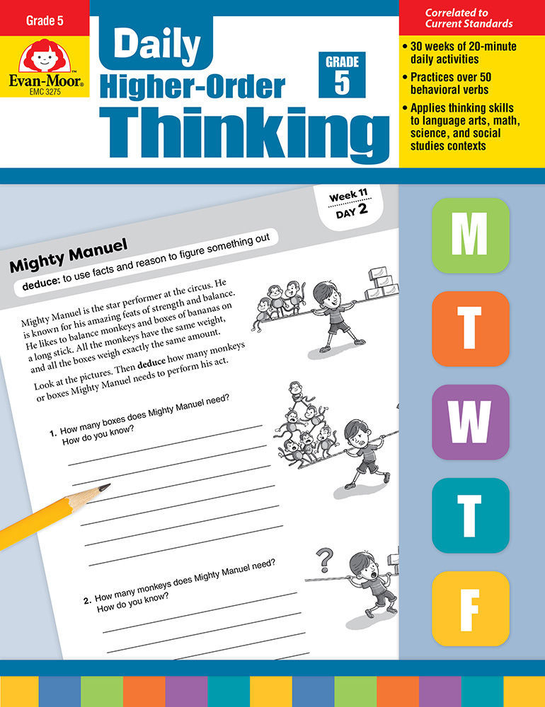 Picture of Daily Higher-Order Thinking, Grade 5 - Teacher's Edition, Print