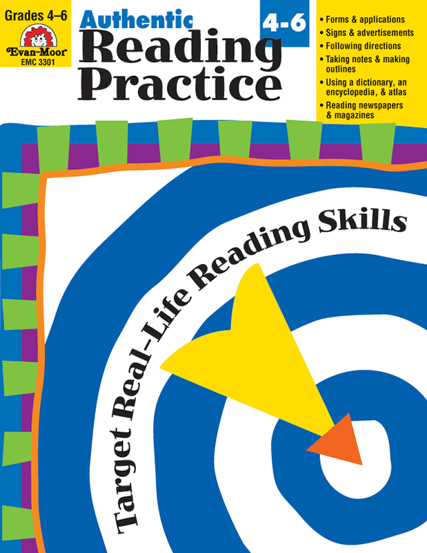 Picture of Authentic Reading Practice, Grades 4-6 - Teacher Reproducibles, E-book