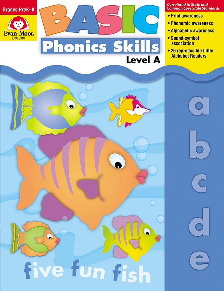 Picture of Basic Phonics Skills, Grades PreK-K (Level A) - Teacher Reproducibles, Print