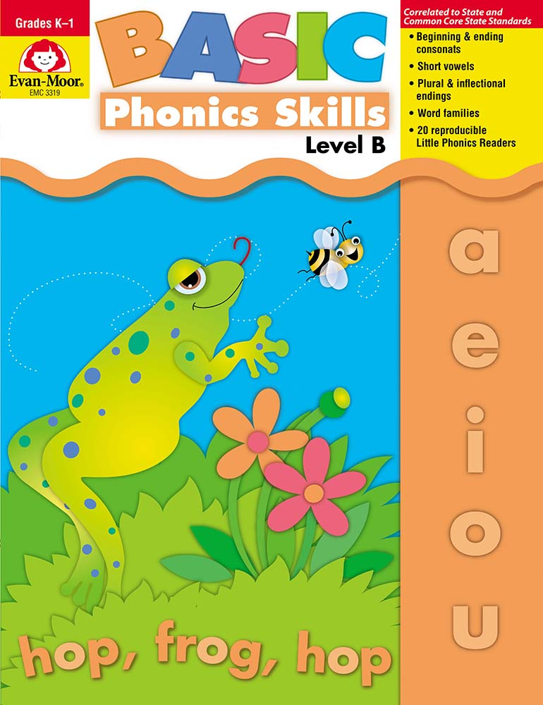 Picture of Basic Phonics Skills, Grades K-1 (Level B) - Teacher Reproducibles, Print