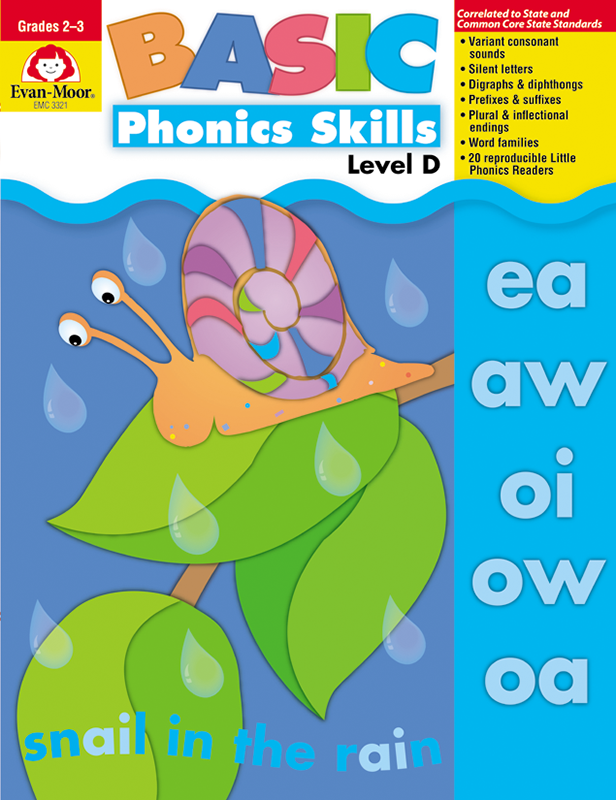 Picture of Basic Phonics Skills, Grades 2-3 (Level D)- Teacher Reproducibles, E-book