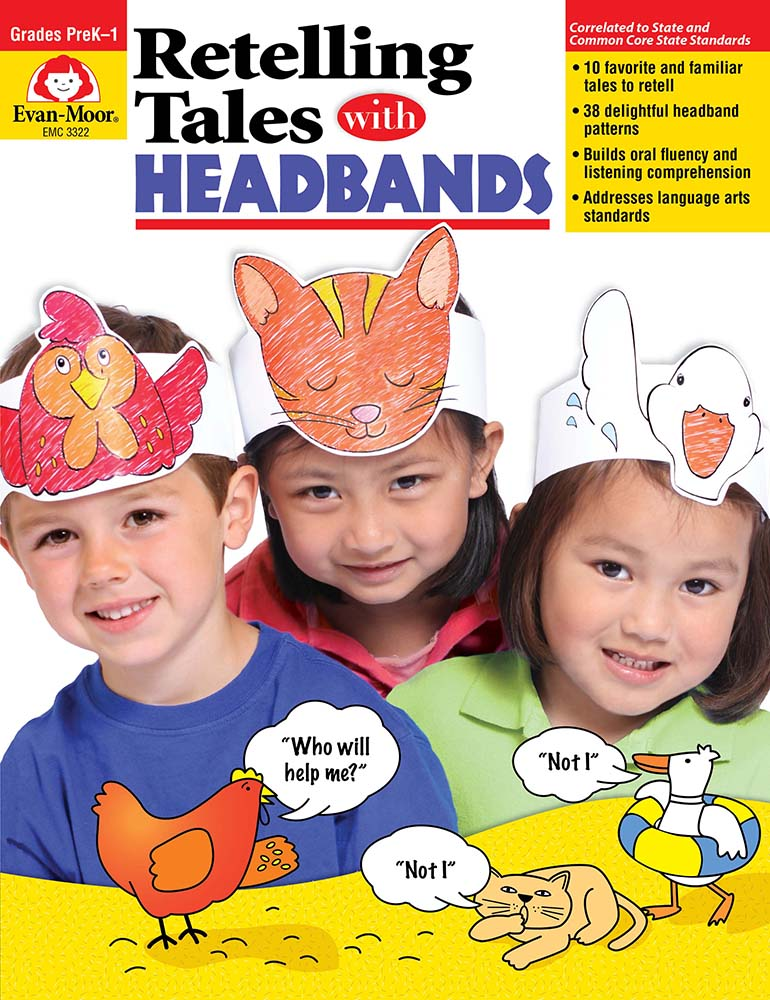 Picture of Retelling Tales with Headbands, Grades PreK-1 - Teacher Reproducibles, Print