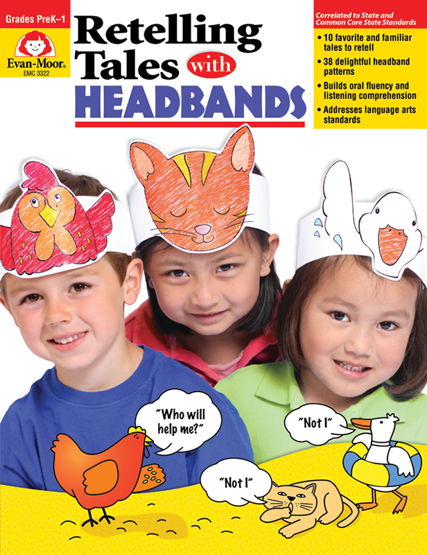 Picture of Retelling Tales with Headbands, Grades PreK-1 - Teacher Reproducibles, E-book