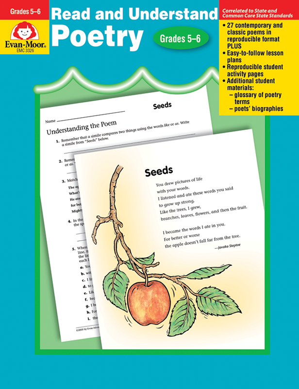 Picture of Read and Understand Poetry, Grades 5-6 - Teacher Reproducibles, E-book