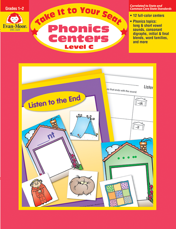 Picture of Take It to Your Seat: Phonics Centers, Grades 1-2 (Level C)- Teacher Resource, E-book