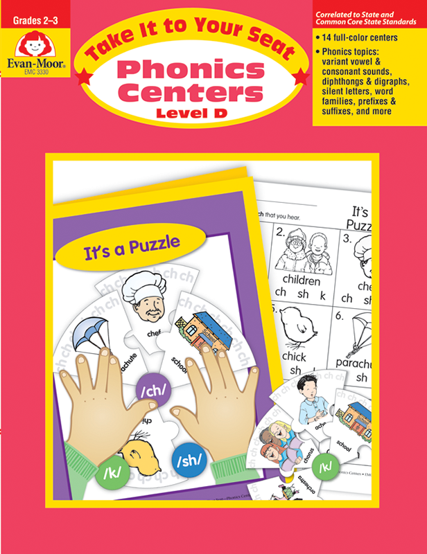 Picture of Take It to Your Seat: Phonics Centers, Grades 2-3 (Level D)- Teacher Resource, E-book