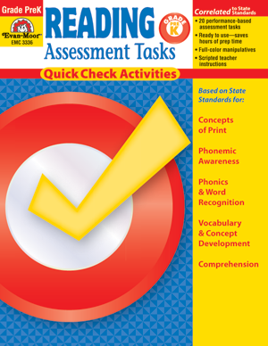 Picture of Reading Assessment Tasks, Grade PreK - Teacher Resource, Print
