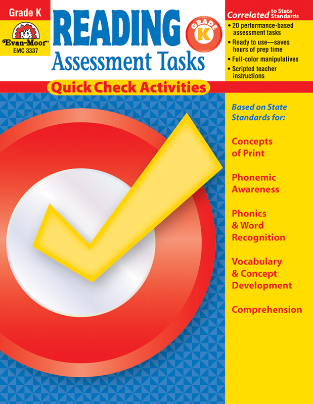 Picture of Reading Assessment Tasks, Grade K - Teacher Reproducibles, E-book