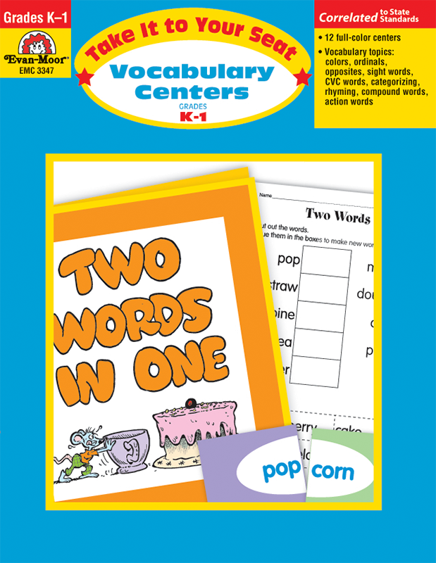 Picture of Take It To Your Seat: Vocabulary Centers, Grades K-1 - E-book