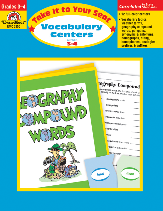 Picture of Take It To Your Seat: Vocabulary Centers, Grades 3-4 - E-book