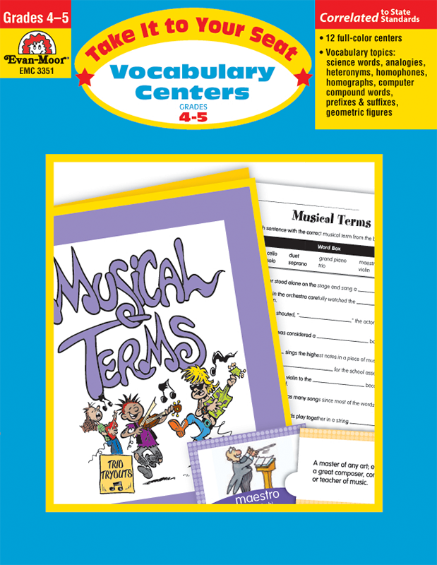 Picture of Take It To Your Seat: Vocabulary Centers, Grades 4-5 - Teacher Resource, E-book