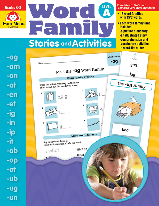 Picture of Word Family Stories and Activities, Grades K-2 (Level A)- Teacher Reproducibles, E-book