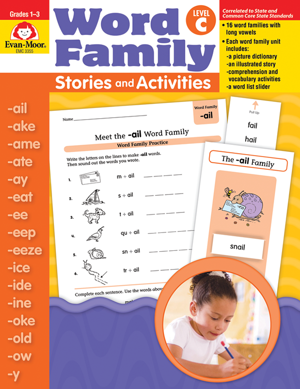 Picture of Word Family Stories and Activities, Grades 1-3 (Level C)- Teacher Reproducibles, E-book
