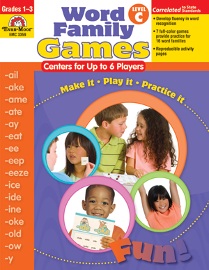 Picture of Word Family Games: Centers for Up to 6 Players, Grades 1-3 (Level C) - Teacher Reproducibles, Print