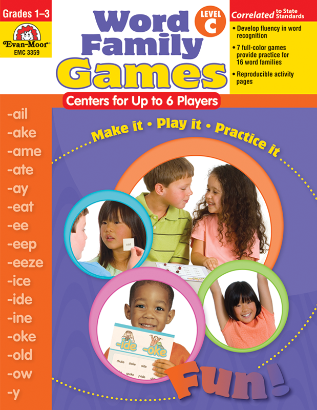 Picture of Word Family Games: Centers for Up to 6 Players, Grades 1-3 (Level C)- Teacher Resource, E-book