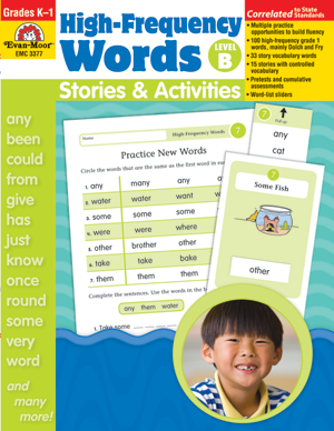 Picture of High-Frequency Words: Stories & Activities, Grades K-1 (Level B) - Teacher Reproducibles, Print