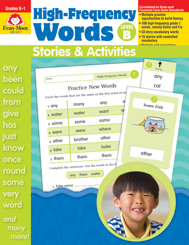 Picture of High-Frequency Words: Stories & Activities, Grades K-1 (Level B)- Teacher Resource, E-book