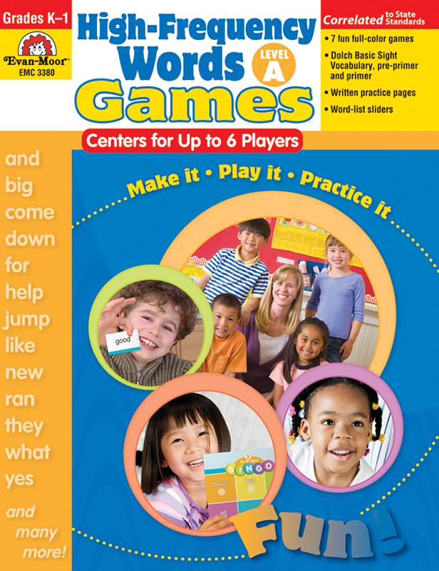 Picture of High-Frequency Words: Center Games, Grades K-1 (Level A)- Teacher Resource, E-book