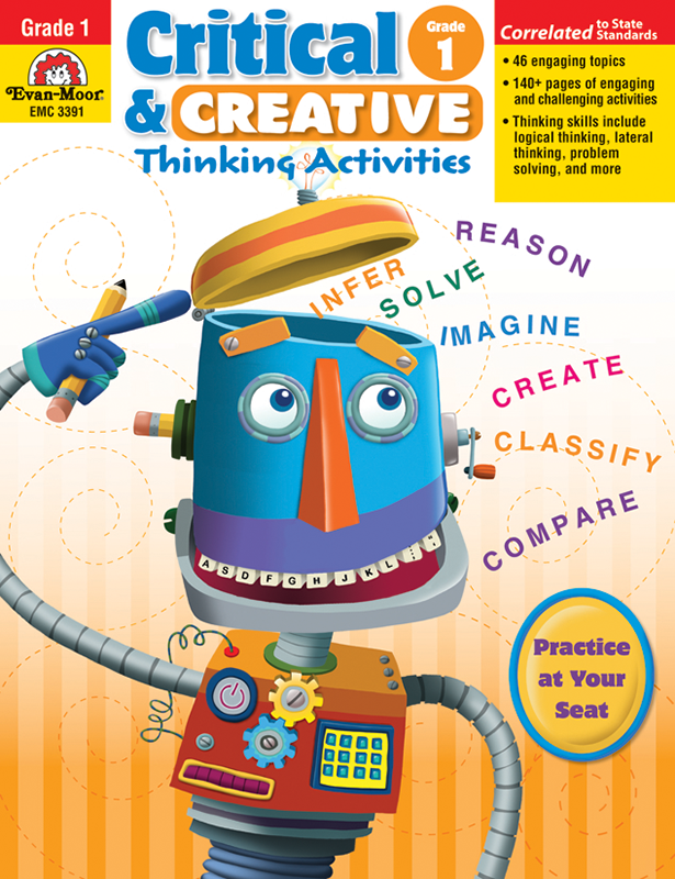 Picture of Critical and Creative Thinking Activities, Grade 1 - Teacher Reproducibles, E-book