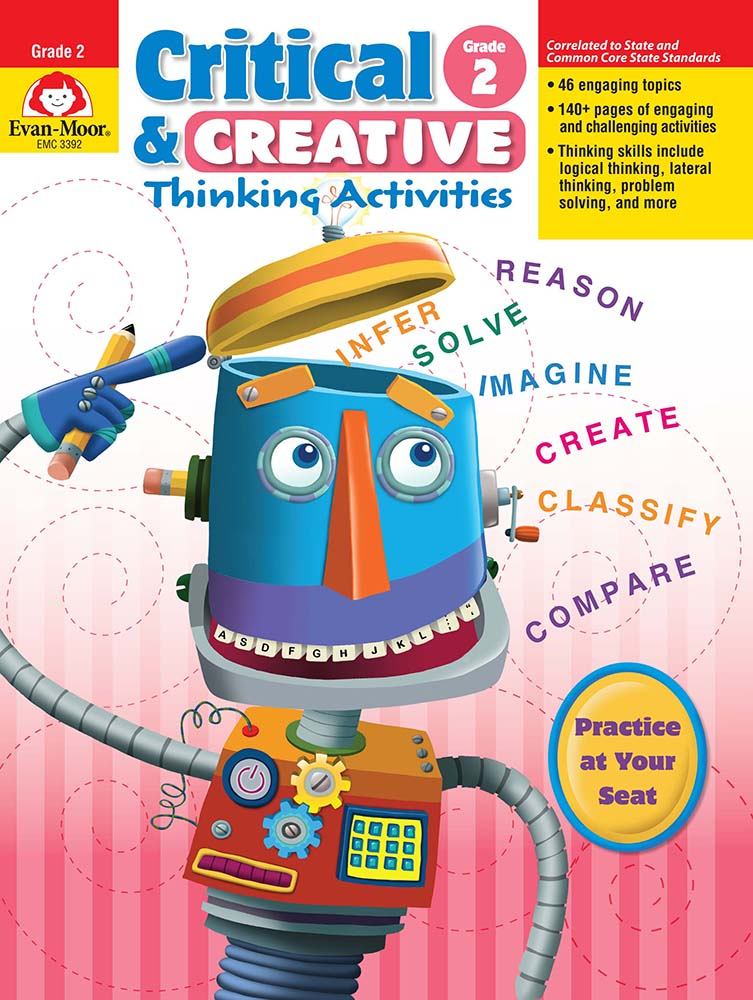 Picture of Critical and Creative Thinking Activities, Grade 2 - Teacher Reproducibles, Print