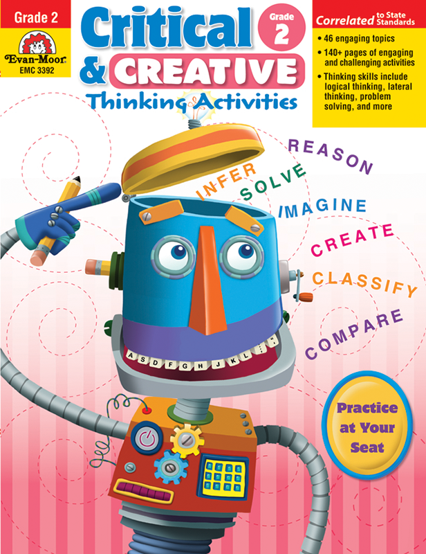Picture of Critical and Creative Thinking Activities, Grade 2 - Teacher Reproducibles, E-book