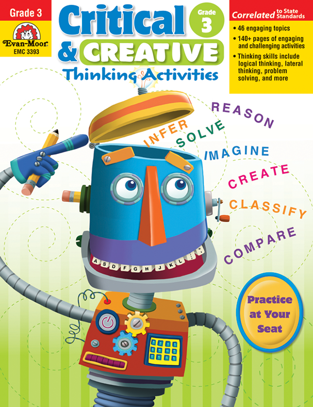 Picture of Critical and Creative Thinking Activities, Grade 3 - Teacher Reproducibles, E-book