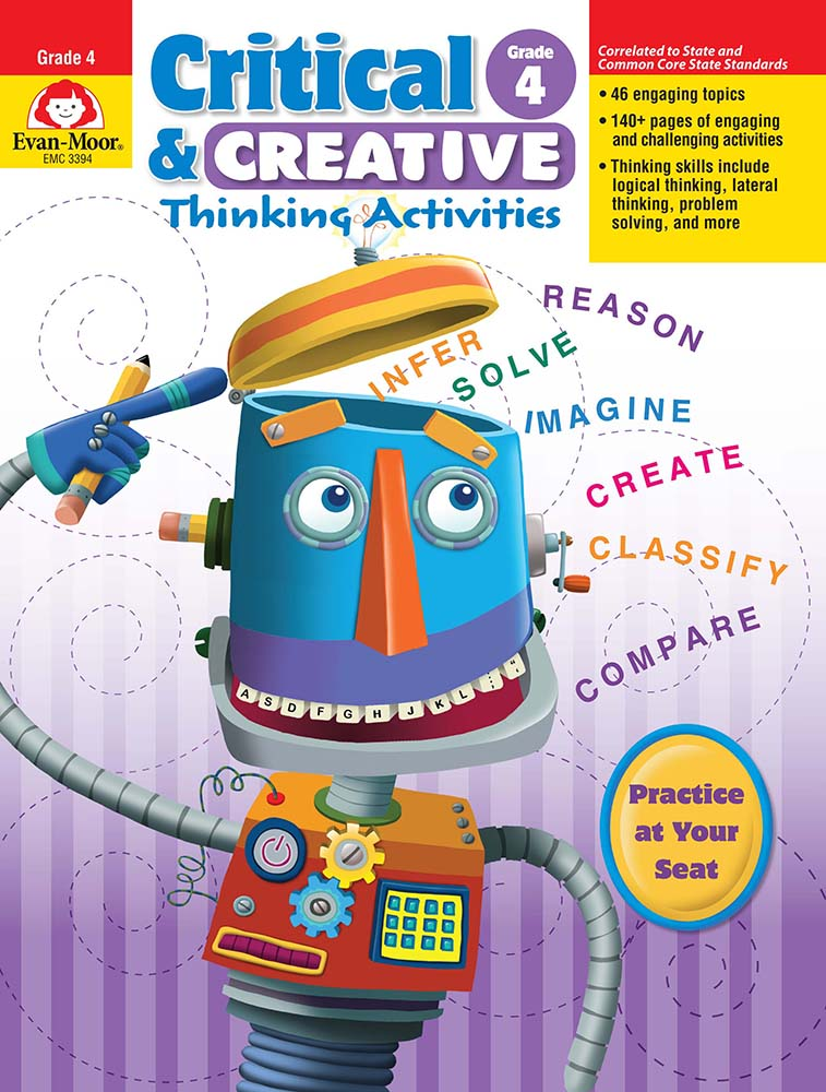 Picture of Critical and Creative Thinking Activities, Grade 4 - Teacher Reproducibles, Print