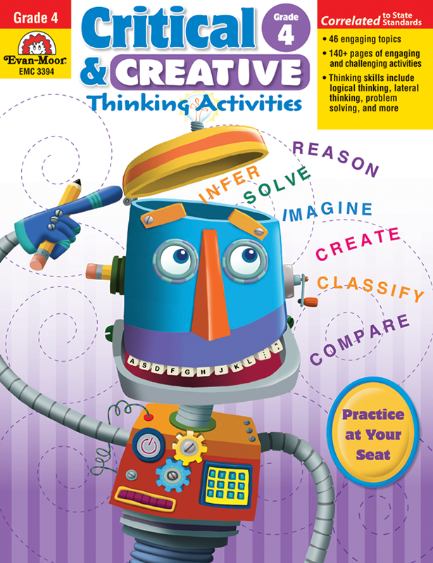 Picture of Critical and Creative Thinking Activities, Grade 4 - Teacher Reproducibles, E-book