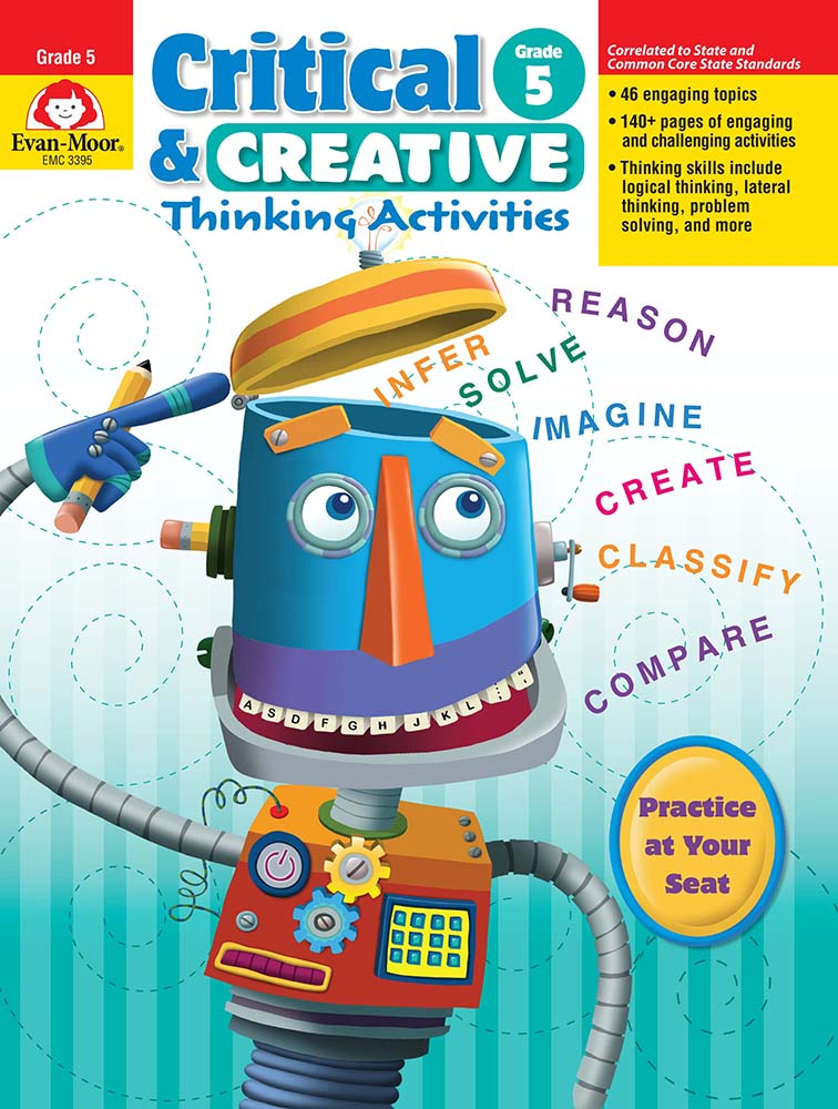 Picture of Critical and Creative Thinking Activities, Grade 5 - Teacher Reproducibles, Print