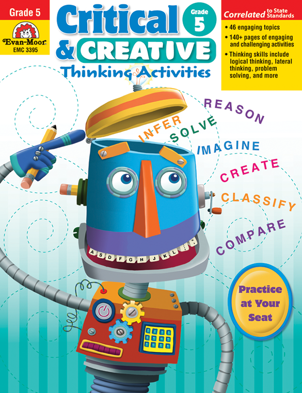 Picture of Critical and Creative Thinking Activities, Grade 5 - Teacher Reproducibles, E-book