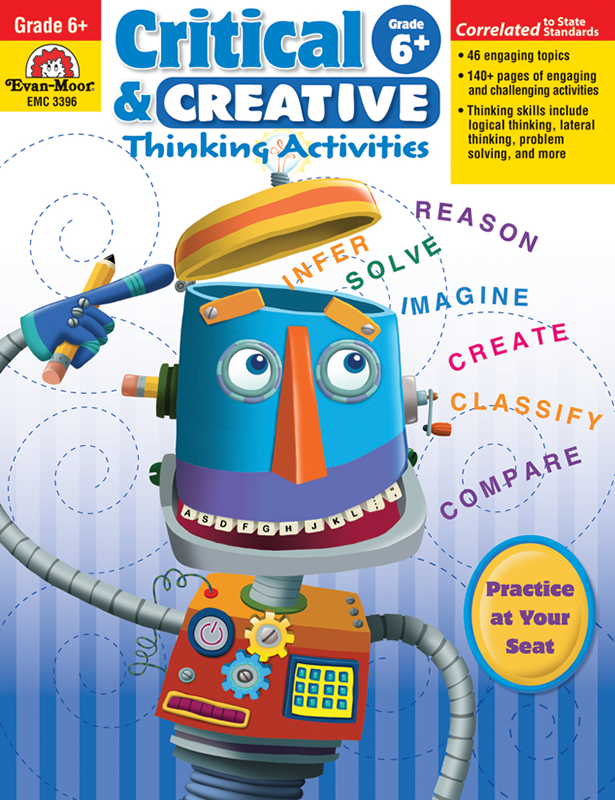 Picture of Critical and Creative Thinking Activities, Grade 6 - Teacher Reproducibles, E-book