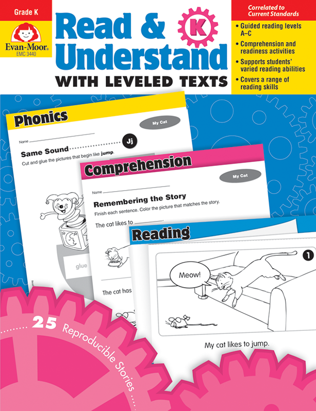 Picture of Read and Understand with Leveled Texts, Grade K - Teacher Reproducibles, E-book