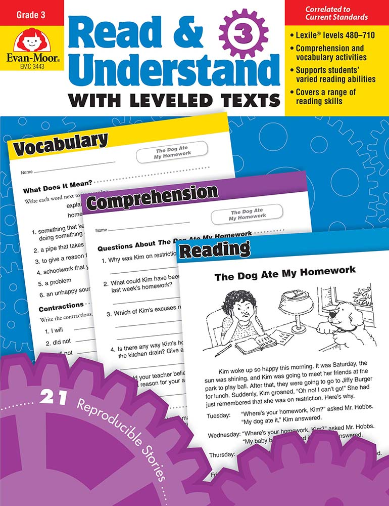 Picture of Read and Understand with Leveled Texts, Grade 3 - Teacher Reproducibles, Print