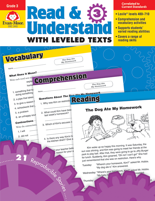 Picture of Read and Understand with Leveled Texts, Grade 3 - Teacher Reproducibles, E-book