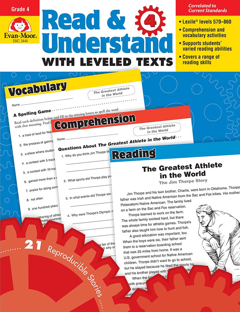Picture of Read and Understand with Leveled Texts, Grade 4 - Teacher Reproducibles, Print