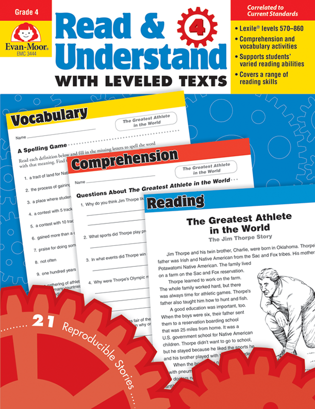 Picture of Read and Understand with Leveled Texts, Grade 4 - Teacher Reproducibles, E-book