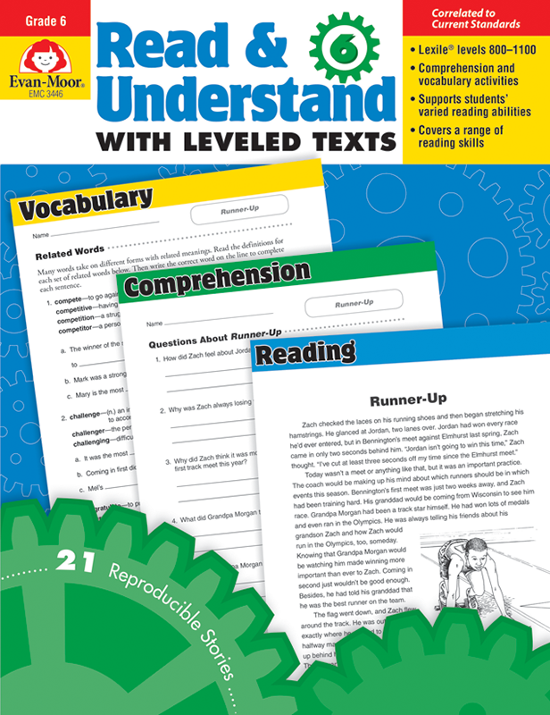 Picture of Read and Understand with Leveled Texts, Grade 6 - Teacher Reproducibles, E-book