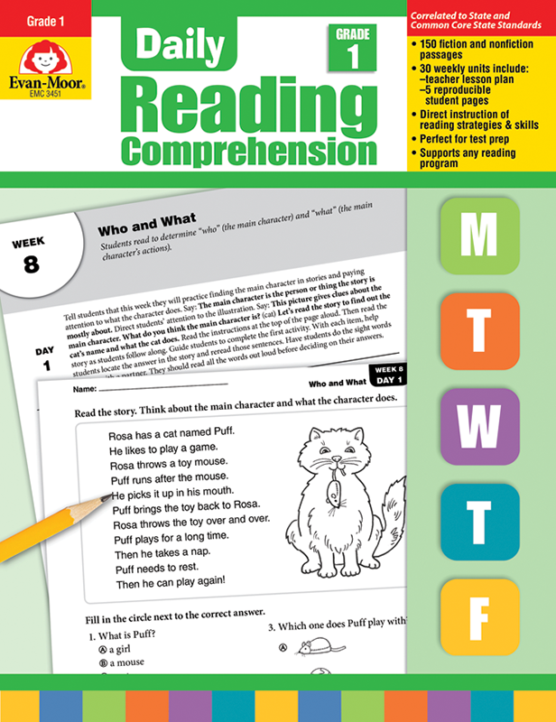 Picture of Daily Reading Comprehension, Grade 1 - Teacher's Edition, E-book