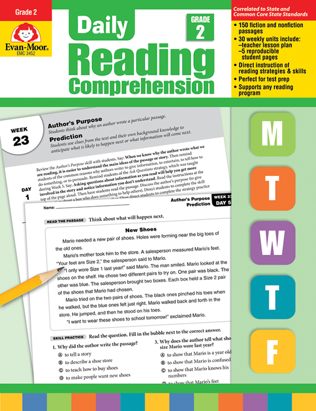Picture of Daily Reading Comprehension, Grade 2 - Teacher's Edition, E-book