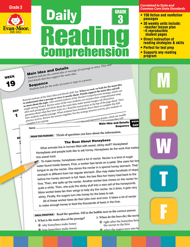 Picture of Daily Reading Comprehension, Grade 3 - Teacher's Edition, E-book