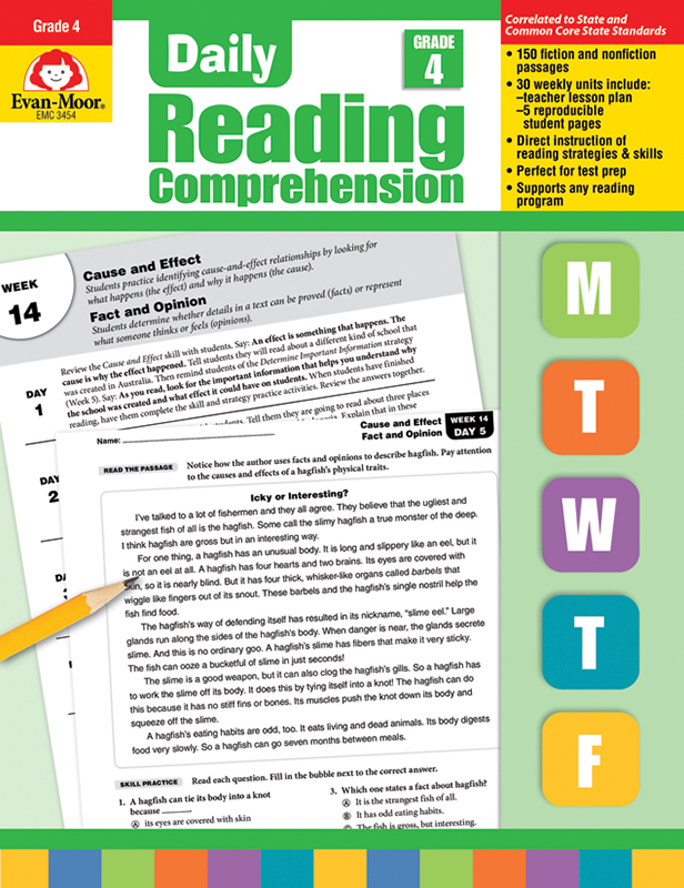 Picture of Daily Reading Comprehension, Grade 4- Teacher's Edition, E-book