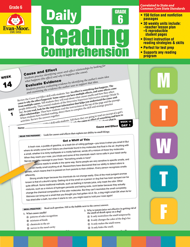 Picture of Daily Reading Comprehension, Grade 6 - Teacher's Edition, E-book