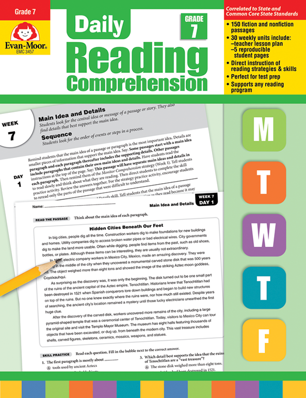 Picture of Daily Reading Comprehension, Grade 7 - Teacher's Edition, E-book