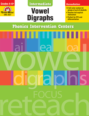 Picture of Phonics Intervention Centers: Vowel Digraphs, Grades 4-6+ - Teacher Reproducibles, Print