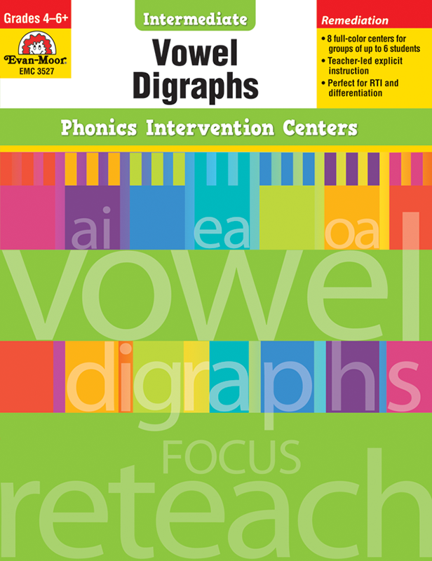 Picture of Phonics Intervention Centers: Vowel Digraphs, Grades 4-6+ - E-book